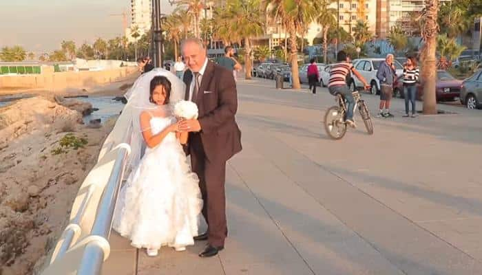 Old man poses with 12-year-old bride – Watch video to know how people reacted