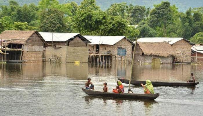 Assam floods: over 90,000 affected, Brahmaputra flowing above danger mark