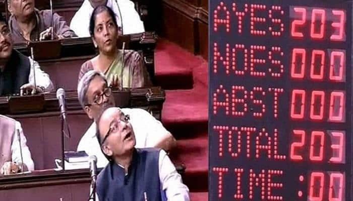 GST Bill finally gets Rajya Sabha nod; govt to announce its implementation roadmap today