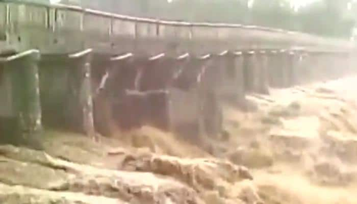 Bridge collapses in Himachal Pradesh following heavy rain – Watch dramatic video