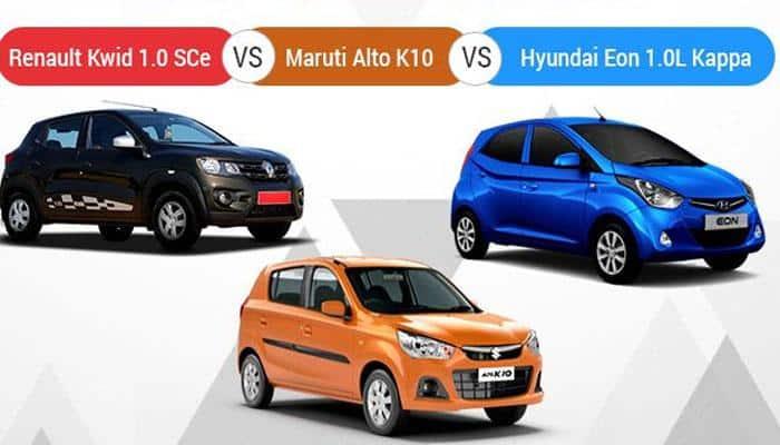 Renault Kwid (1.0-litre) SCe vs Maruti Alto K10 vs Hyundai Eon 1.0-litre - Spec Comparison