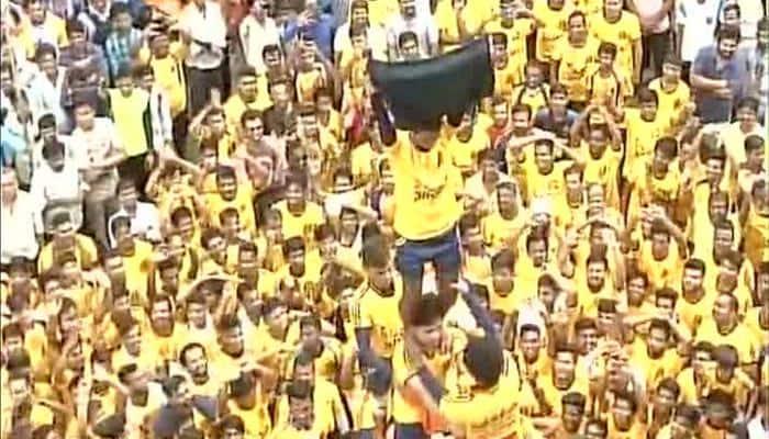 Dahi Handi events in Dadar, Thane flout Supreme Court rule; human pyramids go beyond 20 feet