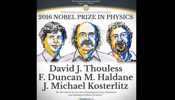 British trio win 2016 Nobel Prize in Physics for topology work