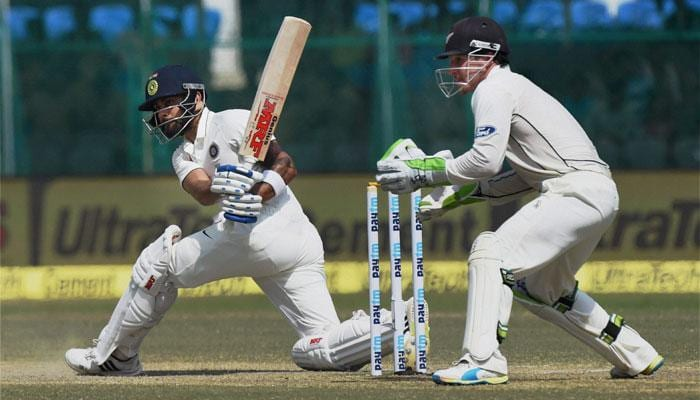 Virat Kohli ends home drought with classy ton; celebrates in cryptic way in Indore