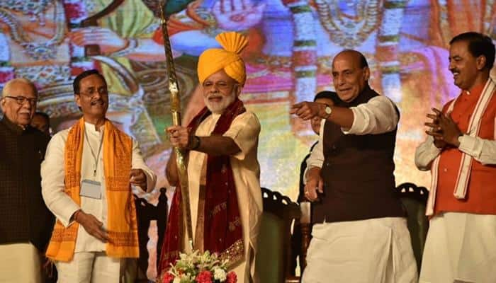 PM Narendra Modi targets Pakistan in Lucknow's Dussehra address, says can't spare nations who support terror