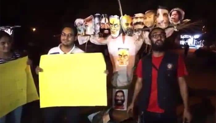 NSUI claims responsibility for burning PM Narendra Modi's effigy as 'Ravan' in JNU, video goes viral
