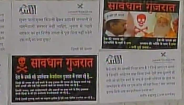Is Gujarat rejecting AAP in Assembly elections? Anti-Arvind Kejriwal posters flood Ahmedabad ahead of his visit