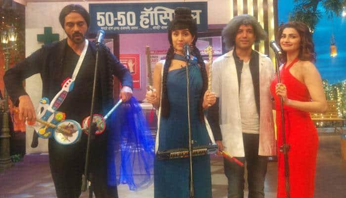 Farhan Akhtar as Dr Mashoor, Arjun Rampal as Bumper: Team 'Rock On 2' spills madness at 'The Kapil Sharma Show'