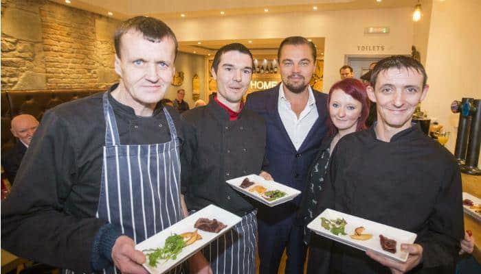 Actor Leonardo DiCaprio fulfills a fan's wish in Scotland