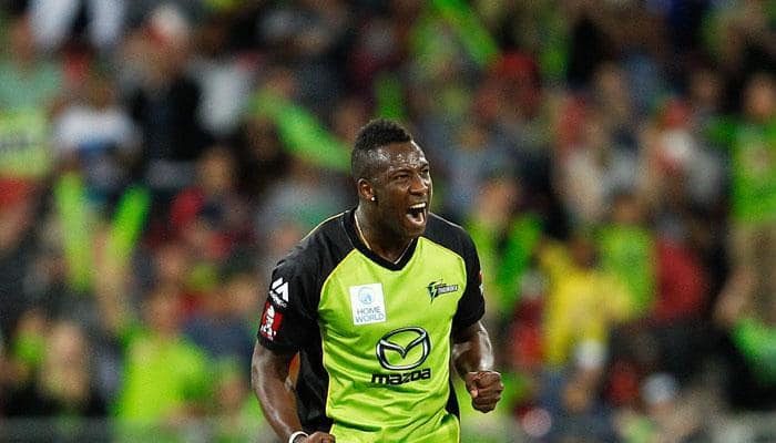 BBL 2016: Andre Russell's unique 'Black-Pink' bat banned by Cricket Australia