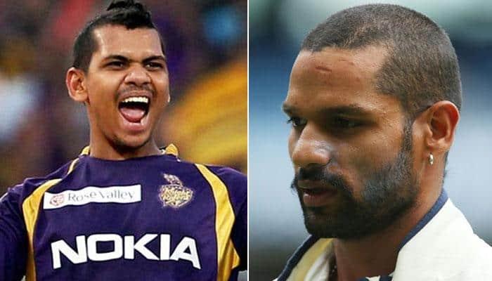 Sunil Narine opens batting, and Shikhar Dhawan becomes victim — VIDEOS INSIDE