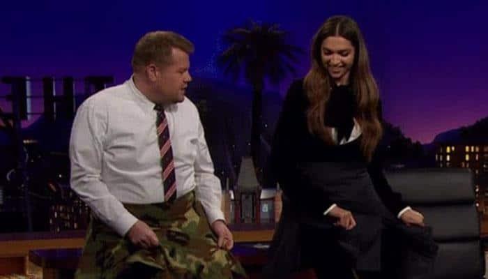 Deepika Padukone teaches James Corden the Lungi dance – WATCH super fun video