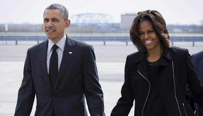 Obama and Michelle tweet one final time