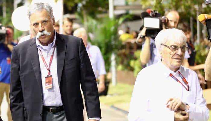 End of an era: 86-year-old Bernie Ecclestone replaced as Formula One chief by Chase Carey