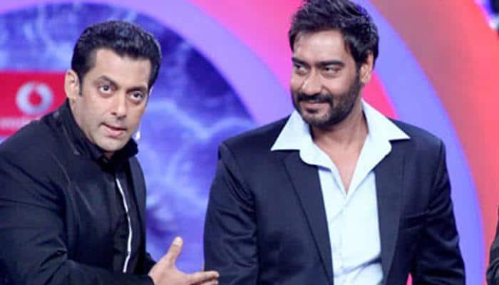 'Sultan' Salman Khan meets Ajay Devgn on 'Baadshaho' sets! Pic proof