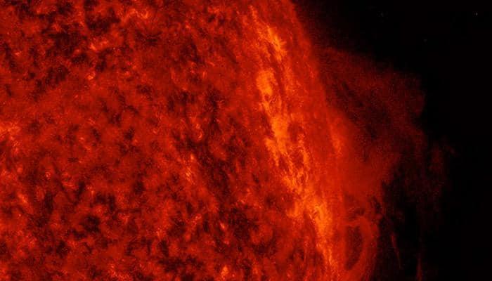 NASA's SDO spots churning solar prominence above Sun's surface - Watch