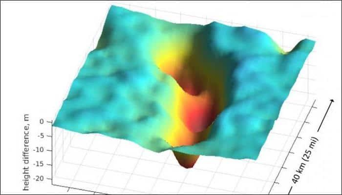 Discovered - Four hidden lakes draining below West Antarctica's Thwaites glacier