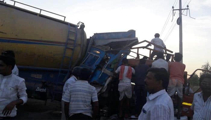 Major mishap in Karnataka's Yadgir; nine killed, 43 injured as tanker rams into tempo