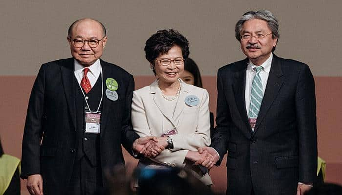 Pro-China Carrie Lam becomes Hong Kong's 1st woman leader