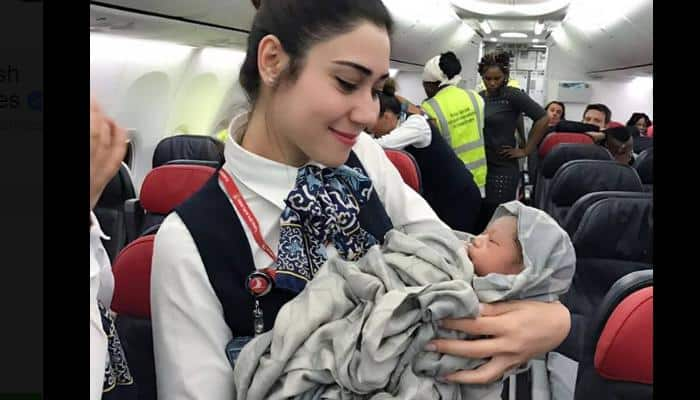 Meet the baby girl born mid-air on Turkish Airlines flight (See adorable pics)