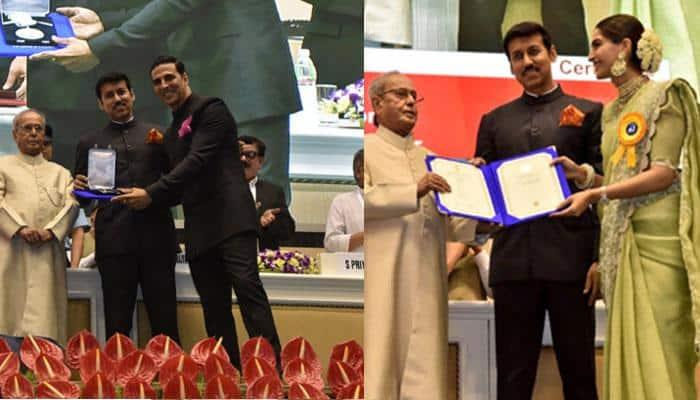 National Film Awards: President Pranab Mukherjee confers honour on 'Rustom' Akshay Kumar, Sonam Kapoor for 'Neerja' and others
