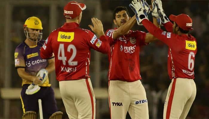 IPL 2017: Rahul Tewatia, Mohit Sharma help KXIP claim 14-run win over KKR; keep play-offs hope alive
