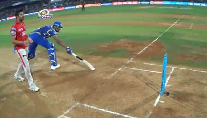 WATCH: MI batsman Kieron Pollard deliberately plays culprit to retain strike by running one run short against KXIP
