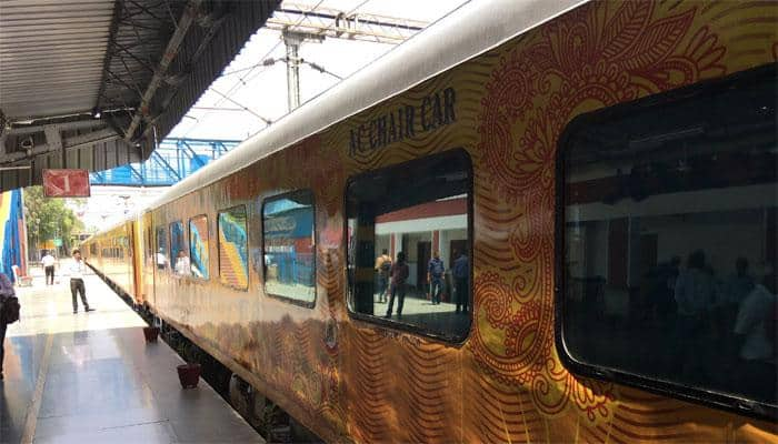 19-coach Tejas Express with LED TV, tea/coffee vending machine all set to hit the tracks next week