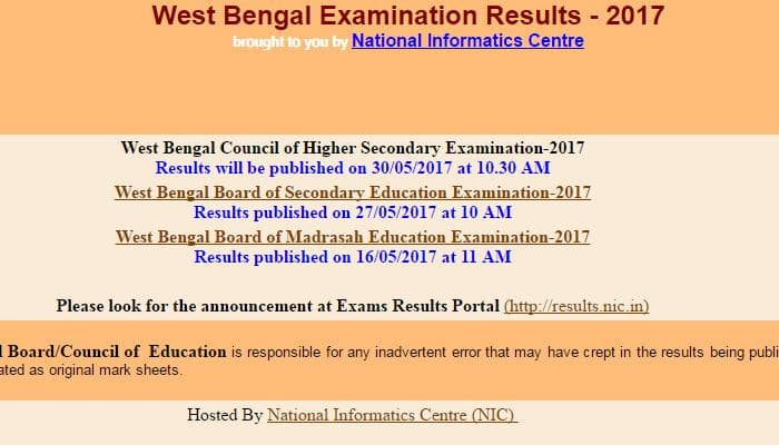 Wbchse.nic.in 12th Results 2017: Wbresults.nic.in WB HS Class 12th Result 2017 West Bengal to be declared soon