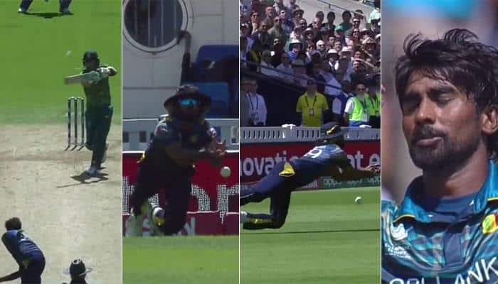 WATCH: Experienced Lasith Malinga makes a mess, gives dangerous Faf du Plessis life in South Africa-Sri Lanka CT2017 match