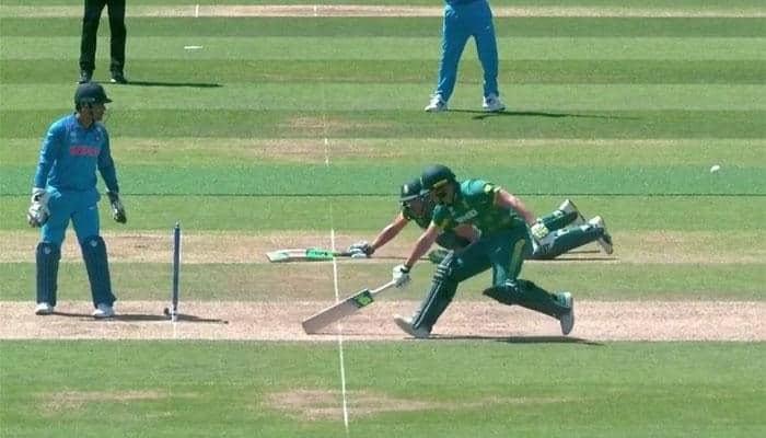 WATCH: Is this for real! Two South African batsmen Faf du Plessis, David Miller fight for lives in farcical manner at the same end against India
