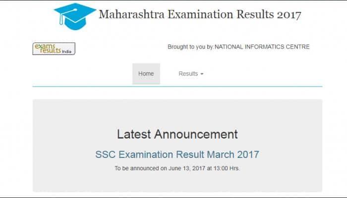 mahresult.nic.in - Maharashtra SSC Result 2017, MHSBSHSE Board SSC Class 10th Result 2017, Maharashtra Class 10th Result 2017