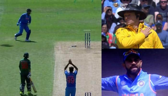 WATCH: Virat Kohli gets angry as MS Dhoni gives away unnecessary 5 penalty runs in IND vs BAN match