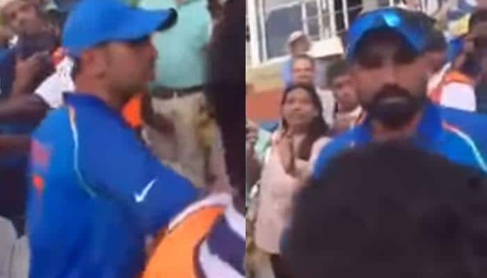 WATCH: MS Dhoni pacifies angry Mohammed Shami for confronting Pakistani fan post 'Who's your Daddy?' taunt