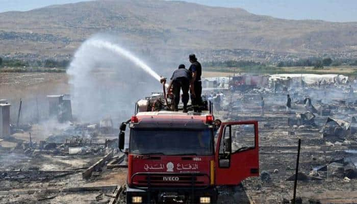 Fire kills one at Syrian refugee camp in Lebanon
