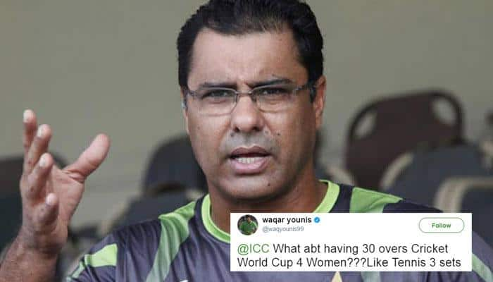 Waqar Younis faces heat on Twitter after suggesting 30-over ODI cricket for women