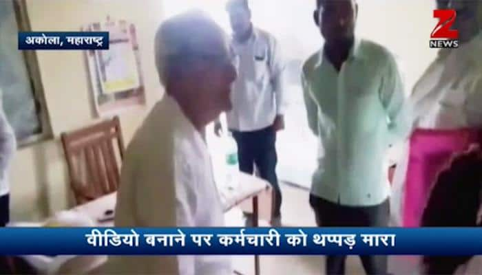 Caught on cam: Maharashtra minister Ranjit Patil's father slaps, abuses school staff, threatens to derecognise branch