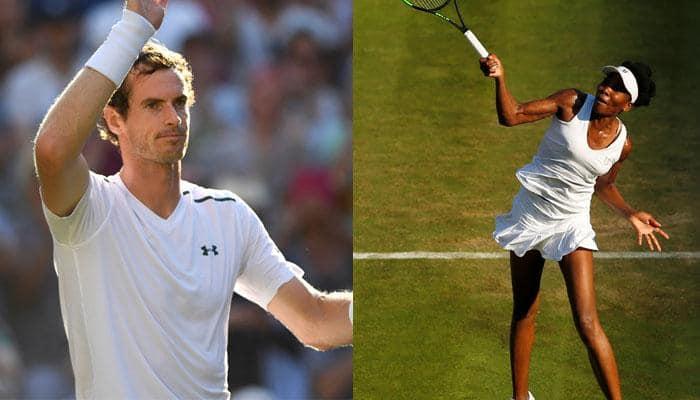 Wimbledon 2017: Andy Murray, Venus Williams through as players battle severe heat, bugs
