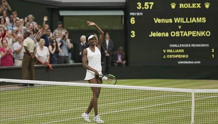Venus Williams reaches 10th Wimbledon semi-final after dispatching Jelena Ostapenko