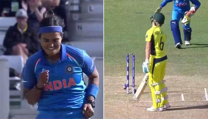 WATCH: India pacer Shikha Pandey opens batting clinic for Aussie batswomen