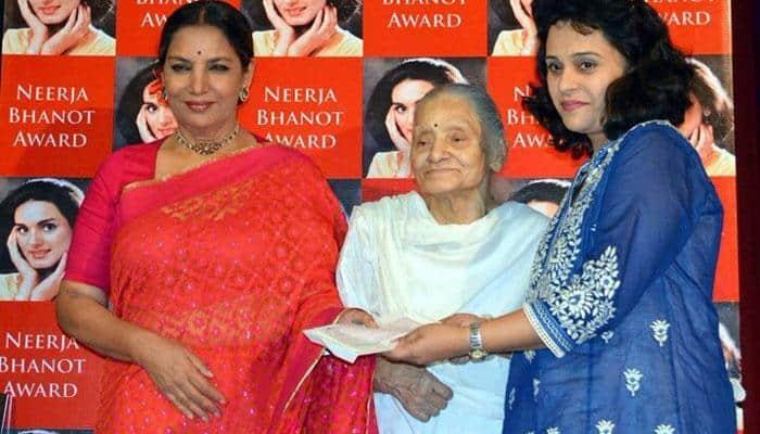 Shabana Azmi shares photograph with Rama Bhanot