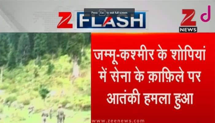 Terrorists attack 62 RR convoy in J&K's Shopian, two Army jawans injured; area cordoned off