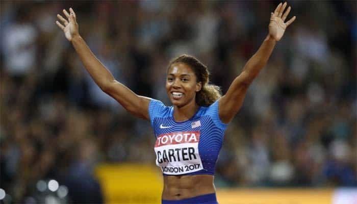 World Athletics Championships: Kori Carter earns shock 400m hurdles win from outside lane