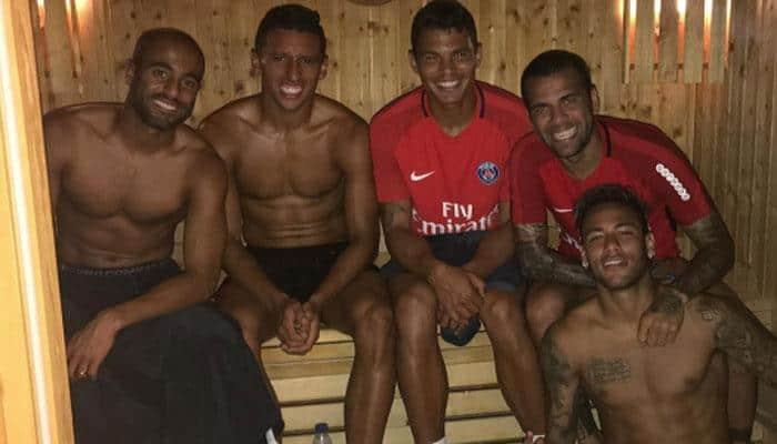 SEE PIC: Neymar poses with Brazilian Paris Saint-Germain team mates