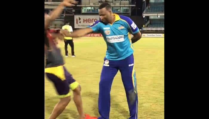 WATCH: Unamused Kieron Pollard pushes Dwayne Bravo after Knight Riders topple Tridents in Caribbean Premier League