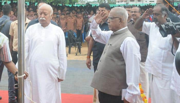 RSS chief Mohan Bhagwat defies Kerala govt's order, unfurls tricolour at school in Palakaad