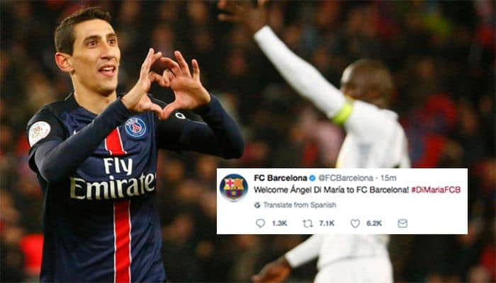 Barcelona Twitter account compromised, hackers announce Angel di Maria signing