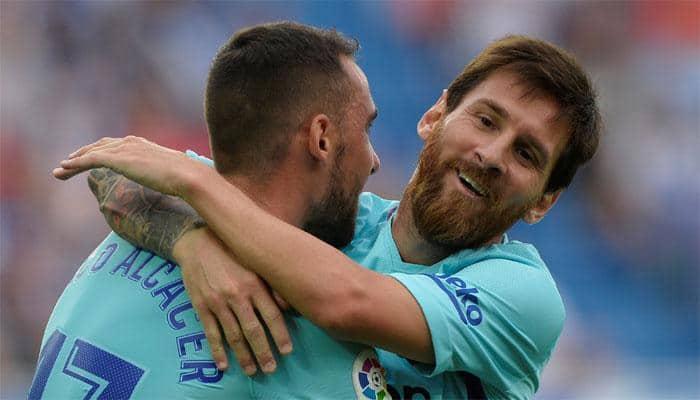 Barcelona win as Lionel Messi hits brace to pass 350 La Liga goals