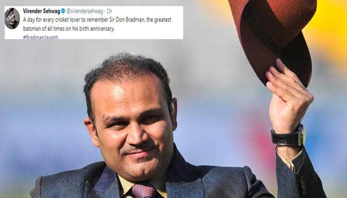 Virender Sehwag remembers greatest batsman of all time on 'Bradman Jayanti'