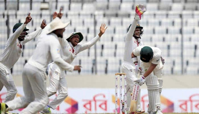 Watch: Bangladesh's Tamim Iqbal gives Aussie-styled send off to Matthew Wade